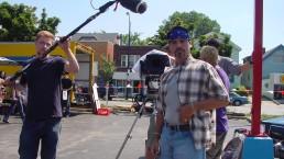 lights camera action movie making set