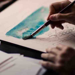 Virtual Team Building Artist Painting