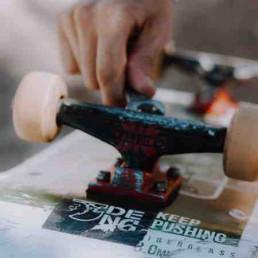 Virtual Charity Skateboard Build Person Building Skateboard