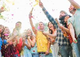 Social Distance Team Building People Cheering