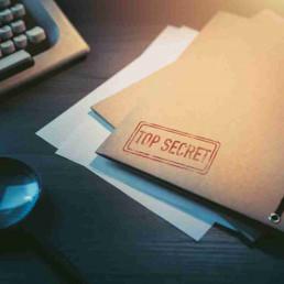 Virtual Team Building Top Secret Folder