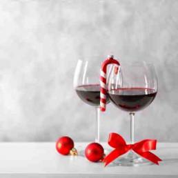 Virtual Wine Tasting Christmas Glasses