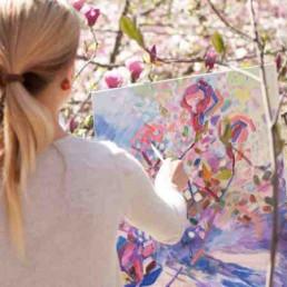 Virtual Art Workshop Lady Painting